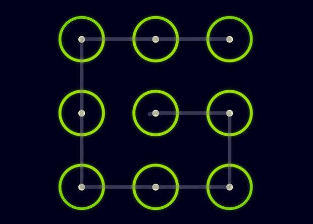 Варианты графических ключей для андроид в картинках