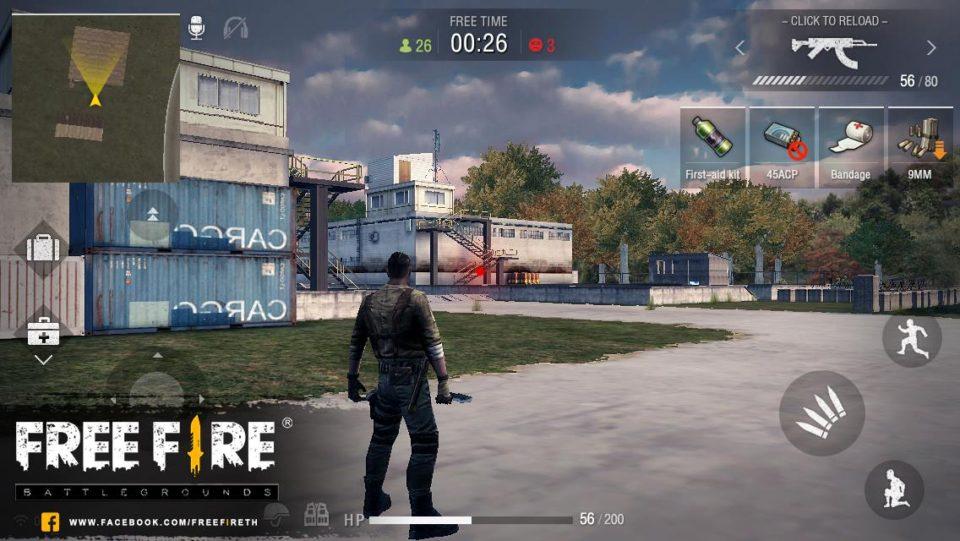 Free Fire Battlegrounds — геймплей