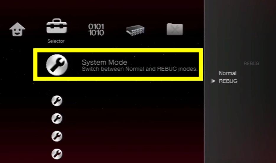 Переходим во вкладку «System Mode»