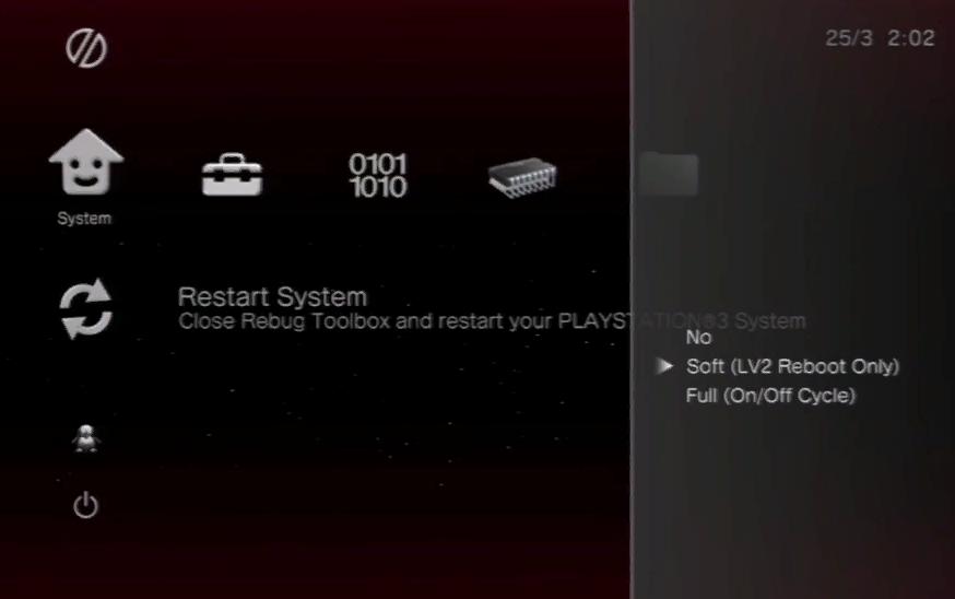 Переходим во вкладку «Restart System»