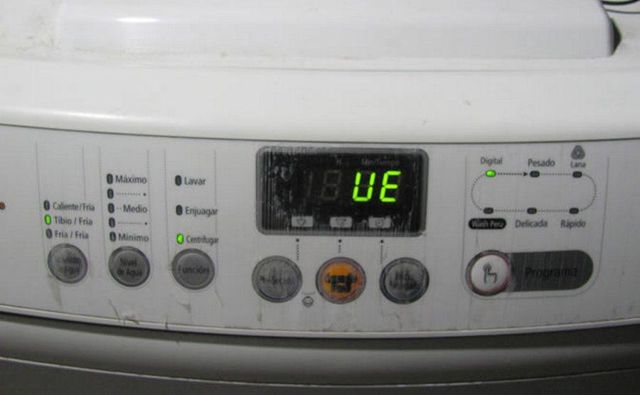 Ошибка UE стиральной машины LG