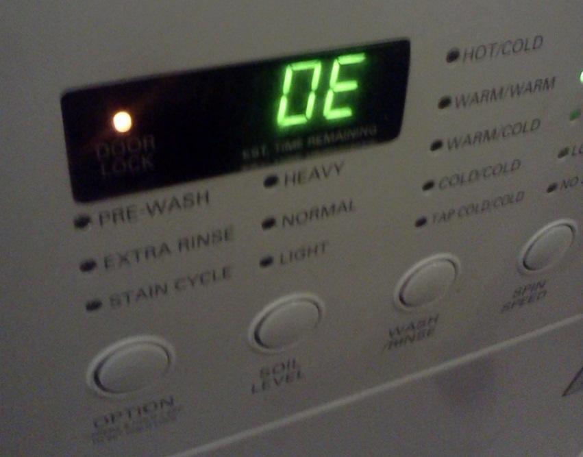 Ошибка OE стиральной машины LG