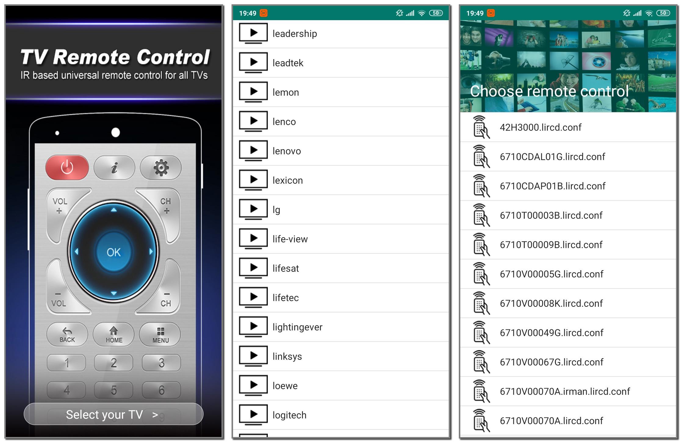 Настройка приложения Remote Control for TV