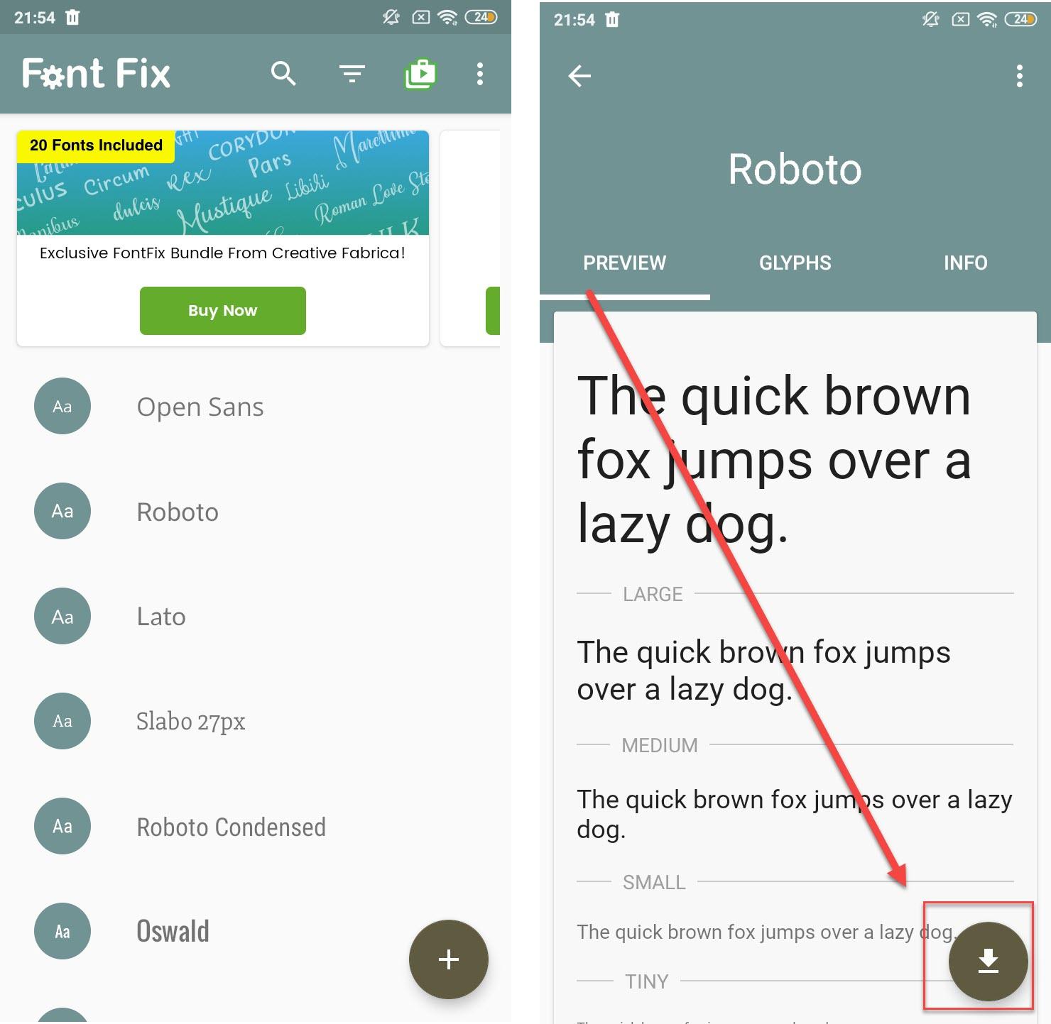 Изменение шрифта в FontFix