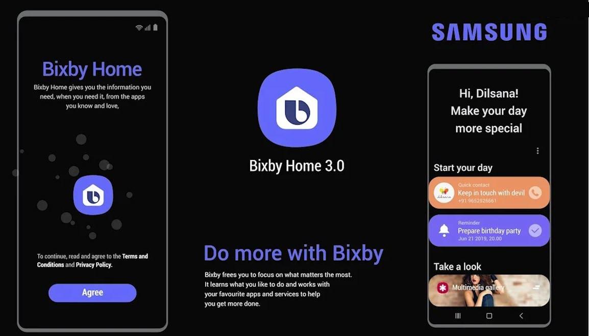 Приложение Bixby Home
