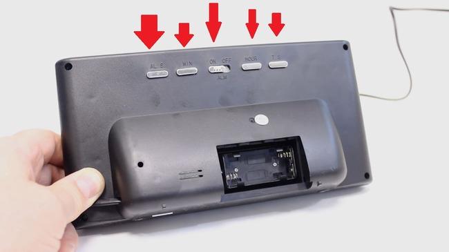 Настройка будильника на часах VST