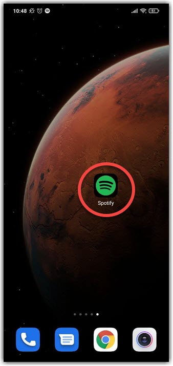 Открываем приложение Spotify для отмены подписки